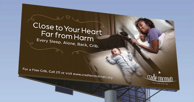 Cradle Cincinnati Safe Sleep Billboard Resized Website